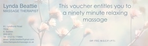 Give a massage gift voucher